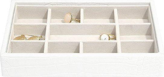 Szkatułka na biżuterię stackers croc 11 komorowa mini biała