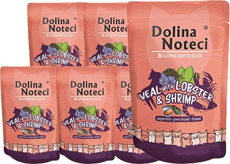 DOLINA NOTECI Superfood cielęcina z homarem i krewetkami saszetka 10x85g