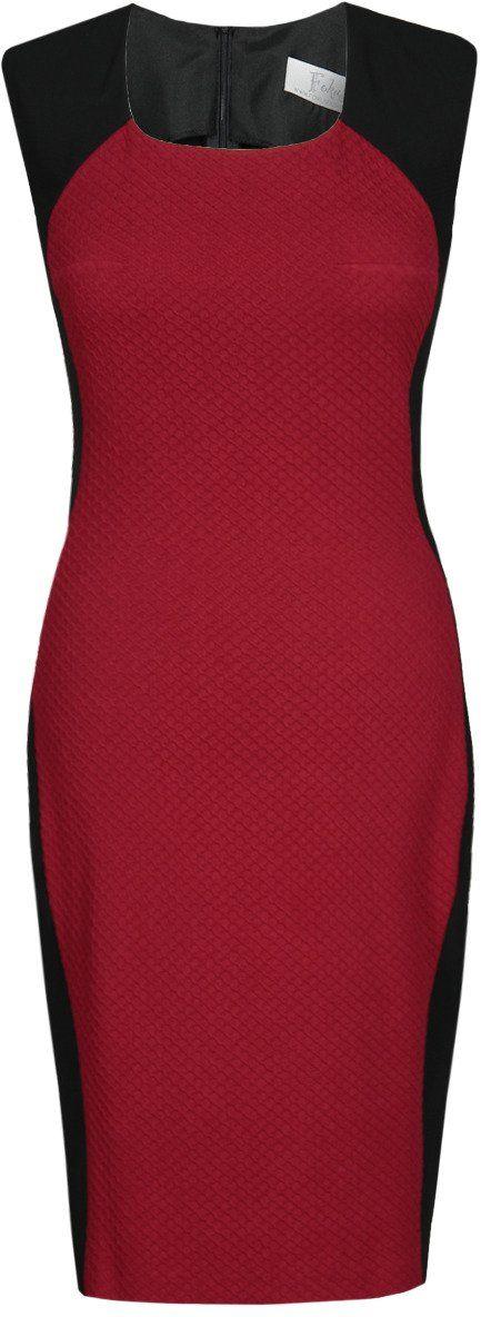 Sukienka FSU448 CZARNY BORDOWY