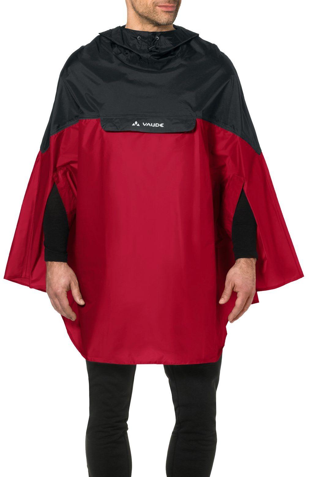 VAUDE Poncho męskie Covero Poncho II, indian red, L, 068096140400