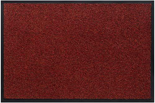 Wycieraczka, przenośna, z poliamidu, odporna na kurz, poliamid, melanż, czerwony, 40 x 60 cm