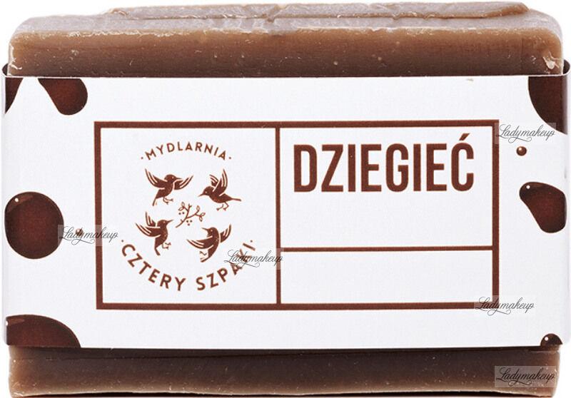 Mydlarnia Cztery Szpaki - Naturalne mydło z dodatkiem dziegciu brzozowego - Na problemy skórne - 110 g