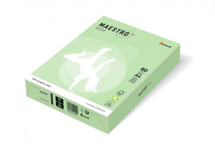 Papier Mondi MAESTRO Color Pastell - MG28 - zielony (A4/80 g/m2) - 5 ryz (MG28)