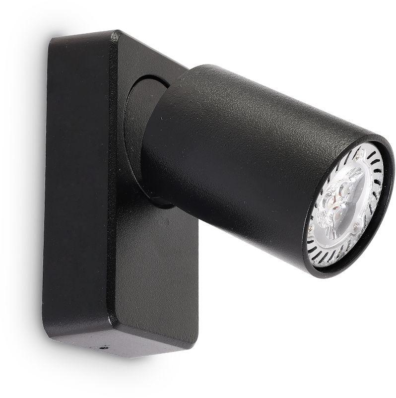 Kinkiet Rudy 229010 Ideal Lux nowoczesna oprawa w kolorze czarnym