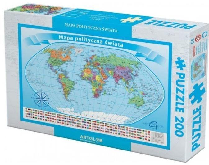 Puzzle 200 Świat polityczny - ArtGlob