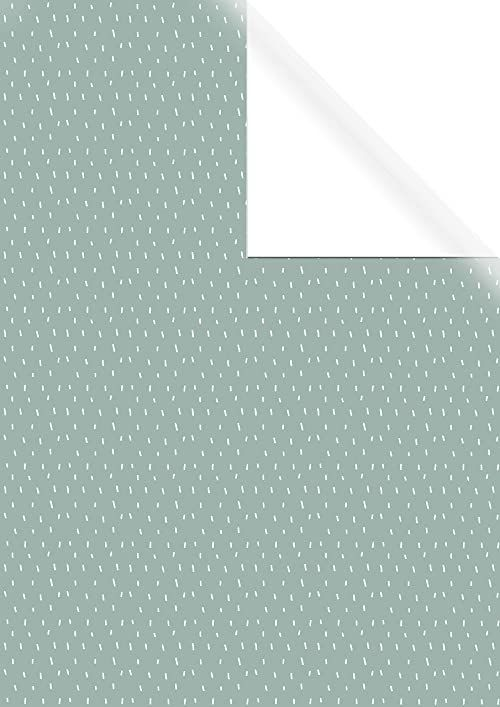 Rayher 67352000 papier do pakowania prezentów zielony z białą siłą, FSC Mix Cred, 70 x 200 cm, jednostronny nadruk, 70 g/m2, naturalny, normalny