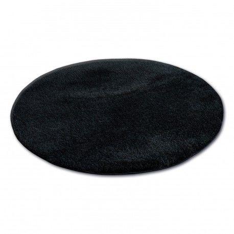 Dywan koło SHAGGY MICRO czarny koło 100 cm