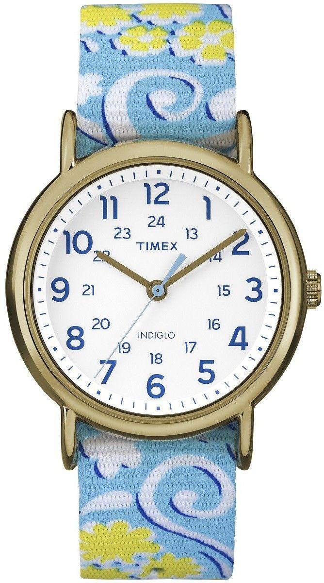 Zegarek Timex TW2P90100 Weekender Classic Reversible Floral - CENA DO NEGOCJACJI - DOSTAWA DHL GRATIS, KUPUJ BEZ RYZYKA - 100 dni na zwrot, możliwość wygrawerowania dowolnego tekstu.