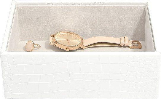 Szkatułka na biżuterię stackers croc open mini biała