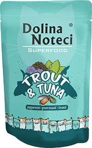 DOLINA NOTECI Superfood pstrąg i tuńczyk saszetka 10x85g