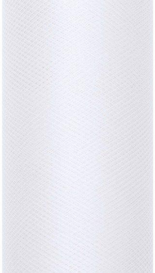 Tiul dekoracyjny biały 15cm rolka 9m TIU15-008 - BIAŁY 15CM
