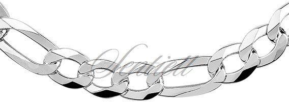 Łańcuszek męski diamentowany figaro płaskie pr. 925 ø 0250 rodowany