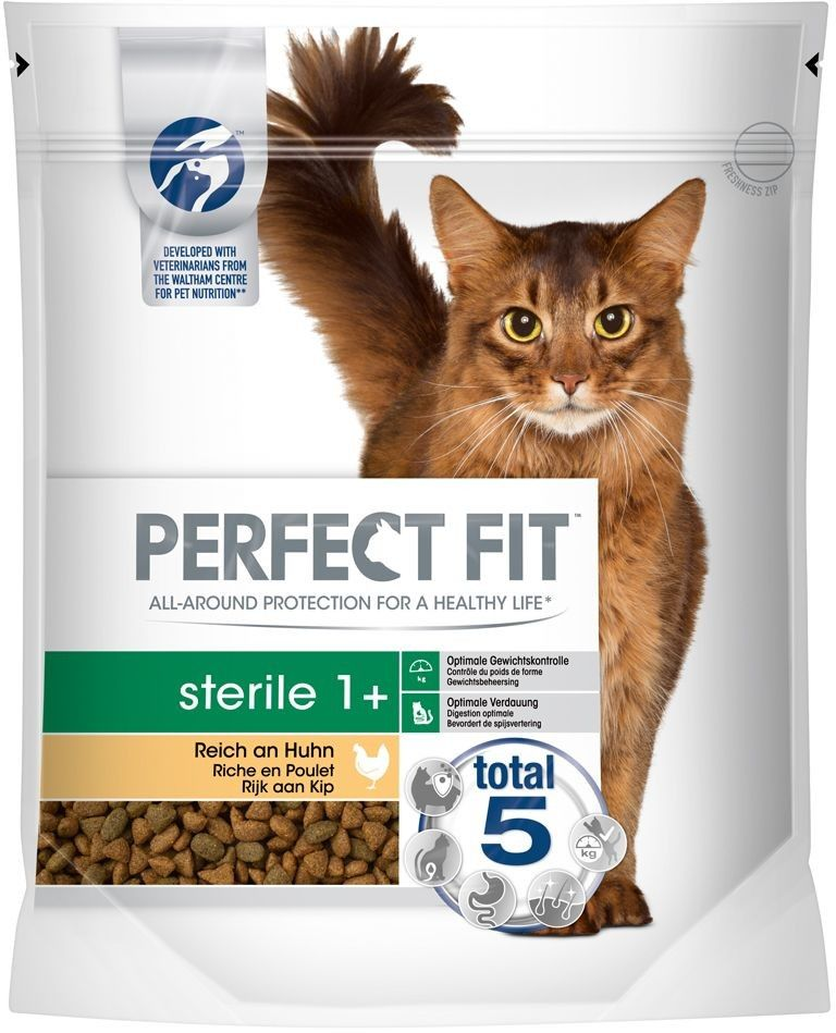 PERFECT FIT (Sterile 1+) 750g Bogaty w Kurczaka - sucha karma dla kota po sterylizacji