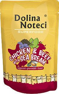 DOLINA NOTECI Superfood kurczak i wołowina z doradą saszetka 10x85g