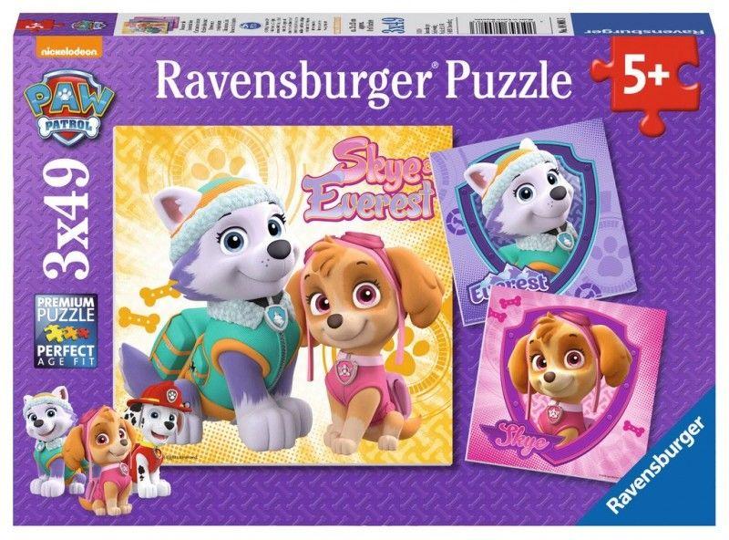 Ravensburger - Puzzle Psi Patrol Skaye & Everest 3 x 49 elem. 080083