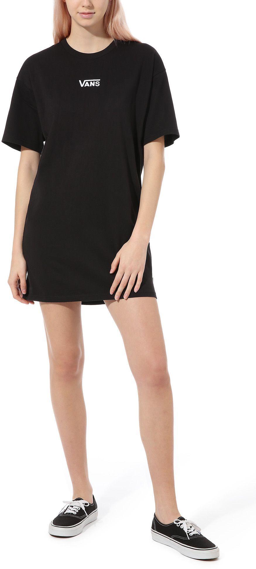 sukienka damska VANS CENTER VEE TEE DRESS Black