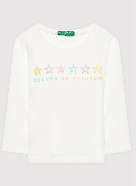 Bluzka 3I9WC15BX Biały Regular Fit