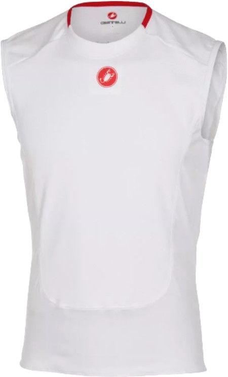 Podkoszulek Castelli Base layer bez rękawów biały XL