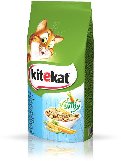 KITEKAT 12kg - sucha karma dla kotów z rybą i warzywami