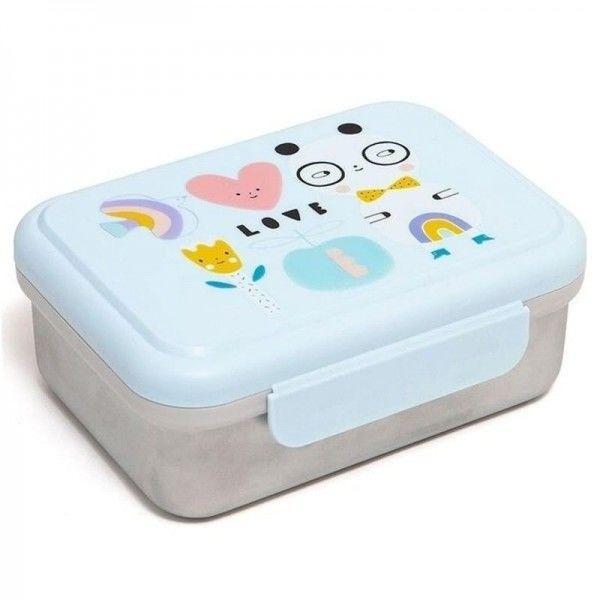 Petit Monkey - Petit Monkey - Śniadaniówka Lunchbox ze Szlachetnej Stali Nierdzewnej Panda Love