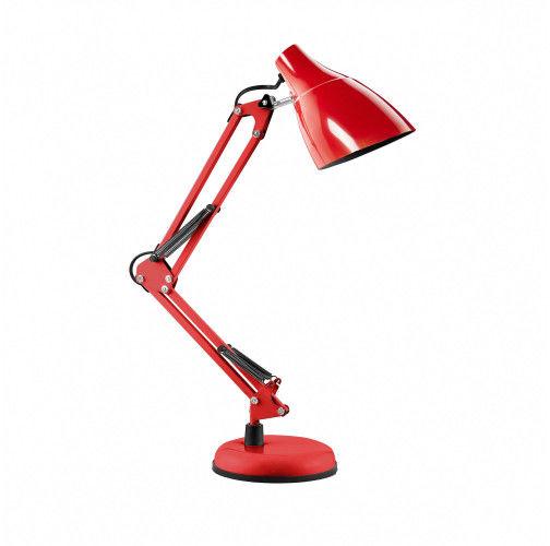 DIAN lampa biurkowa. 60W stalowa, czerwona