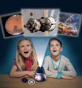 Lampka nocna i projektor slajdów nasa