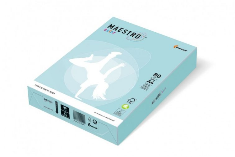 Papier Mondi MAESTRO Color Pastell - MB30 - niebieski (A4/80 g/m2) - 5 ryz (MB30)