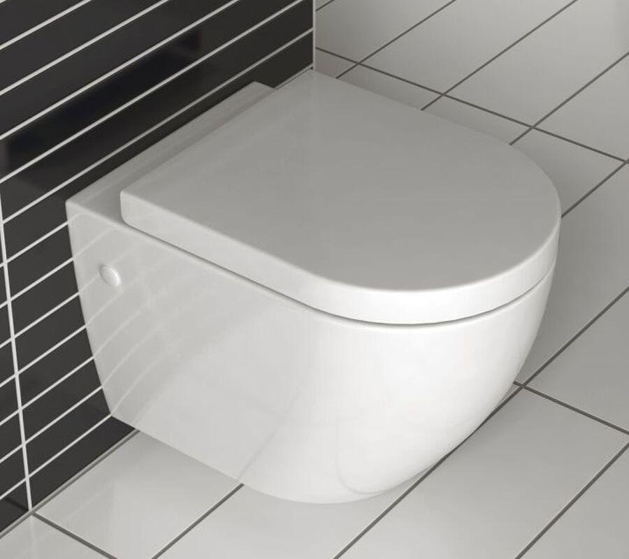 Miska WC podwieszana bezrantowa z deską ABS Carlo Mini Rimless Rea (REA-C1000)