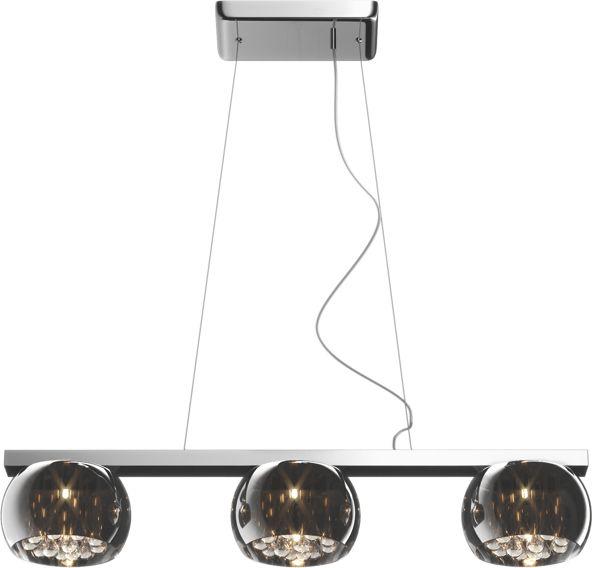 ŻARÓWKI LED GRATIS! Lampa wisząca Crystal P0076-03S Zuma Line potrójna kryształowa oprawa w stylu nowoczesnym