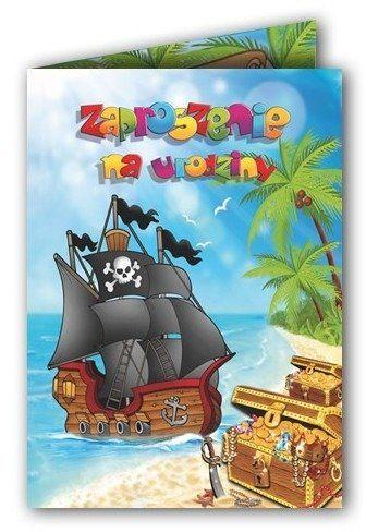 Zaproszenie na Urodziny Piraci pirackie 1 sztuka ZX6700