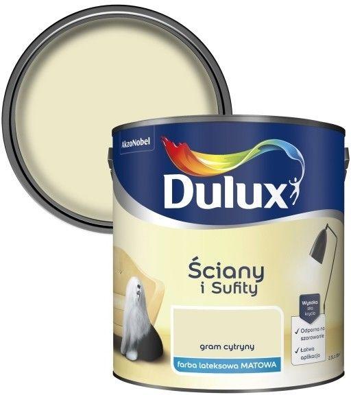 Farba Dulux Ściany i Sufity gram cytryny 2,5 l