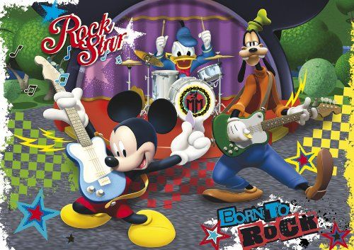 Clementoni 24434.8 - Mickey Mouse Club House: The Rock and Roll Band, Puzzle Maxi, 24 części