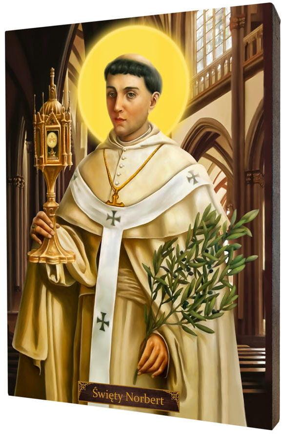 Święty Norbert, obraz na desce lipowej