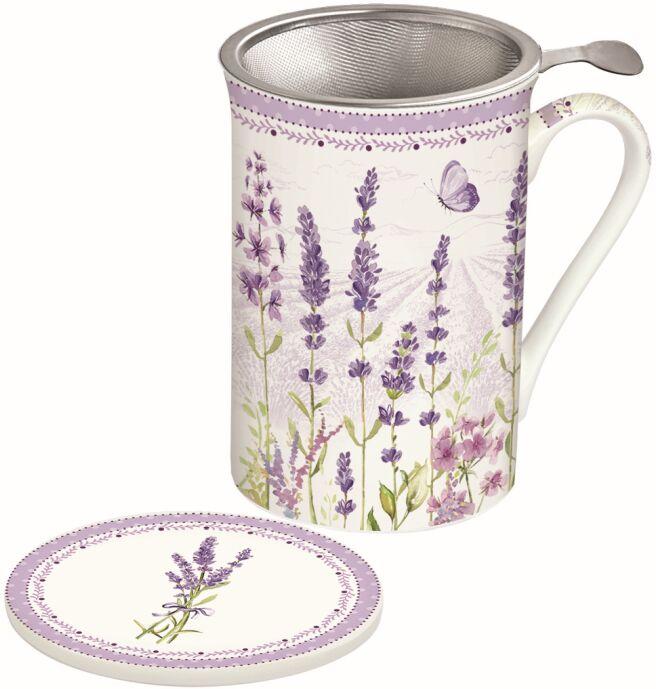 Easy Life/R2S, kubek z zaparzaczem - Lavender Field, lawenda