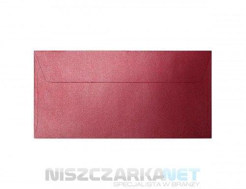 Koperta / koperty ozdobne DL - PEARL CZERWONY opk 10szt 120g m2