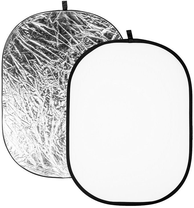 Blenda owalna biało srebrna Quadralite 120x90cm