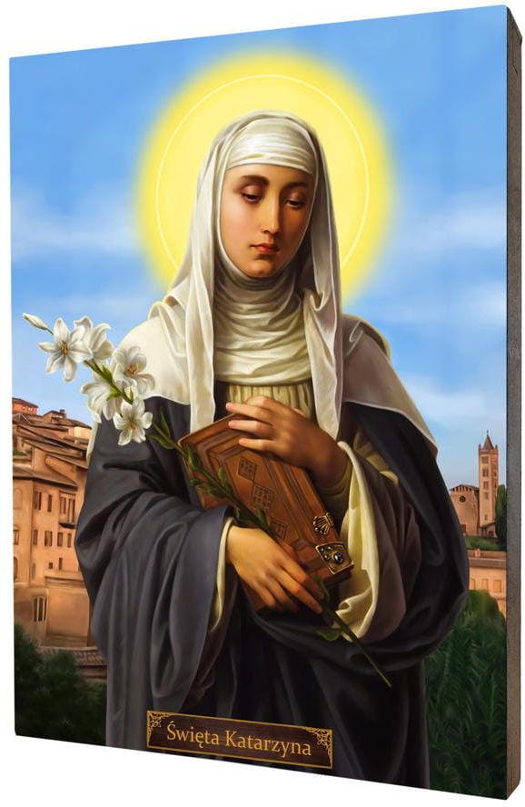 Święta Katarzyna, obraz na desce lipowej