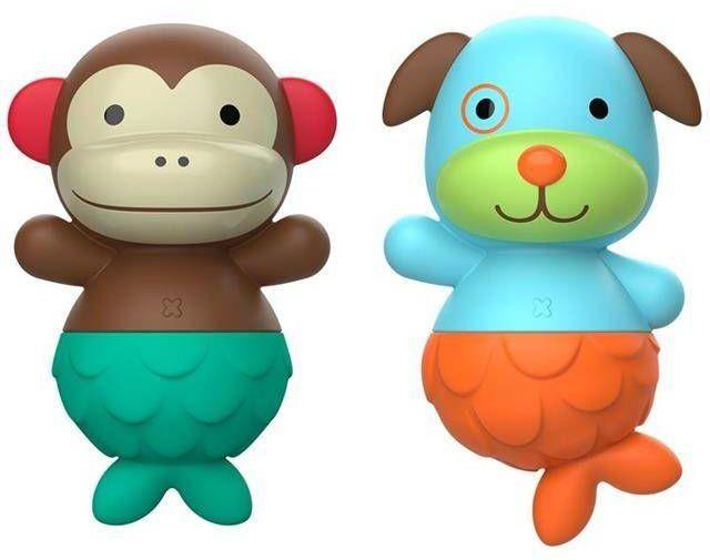 Pływający duet Zoo Małpka/Piesek 9I413910-Skip Hop, zabawki do kąpieli