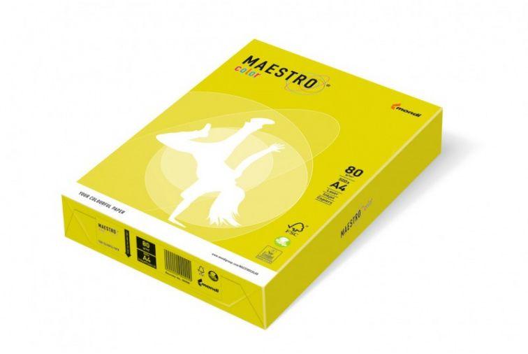 Papier Mondi MAESTRO Color Neon - NEOGB30 - neon żółty (A4/80 g/m2) - 5 ryz (NEOGB30)