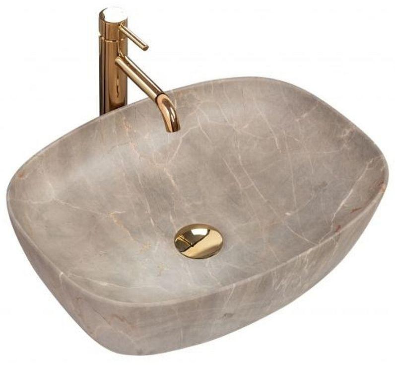 Umywalka nablatowa 50 Freja Beige Rea (REA-U6647)