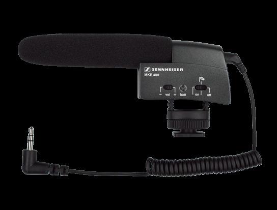 Sennheiser MKE 400 - mikrofon nakamerowy typu shotgun