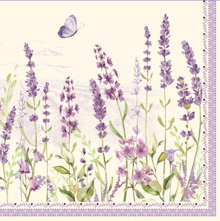 Easy Life/R2S, serwetki deserowe - Lavender Field, lawenda