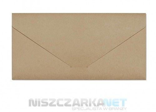 Koperta / koperty ozdobne DL - NATURE CIEMNOBEŻOWY opk 5 szt 220g/m2
