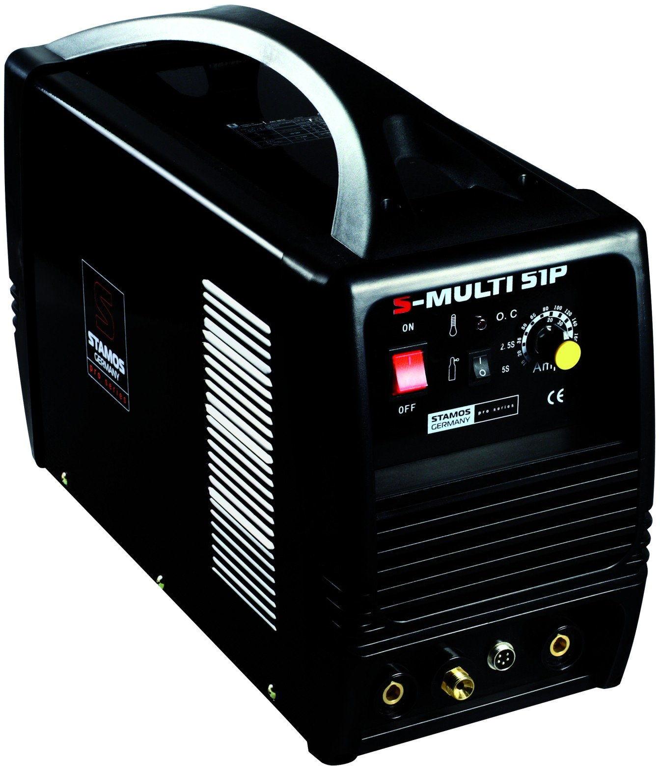 Urządzenie wielofunkcyjne - TIG 180 A - CUT 50 A - MMA - PRO + Maska spawalnicza Carbonic - Stamos Pro Series - S-MULTI 51P - 3 lata