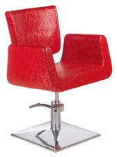 Fotel fryzjerski Vito BH-8802 czerwony LUX