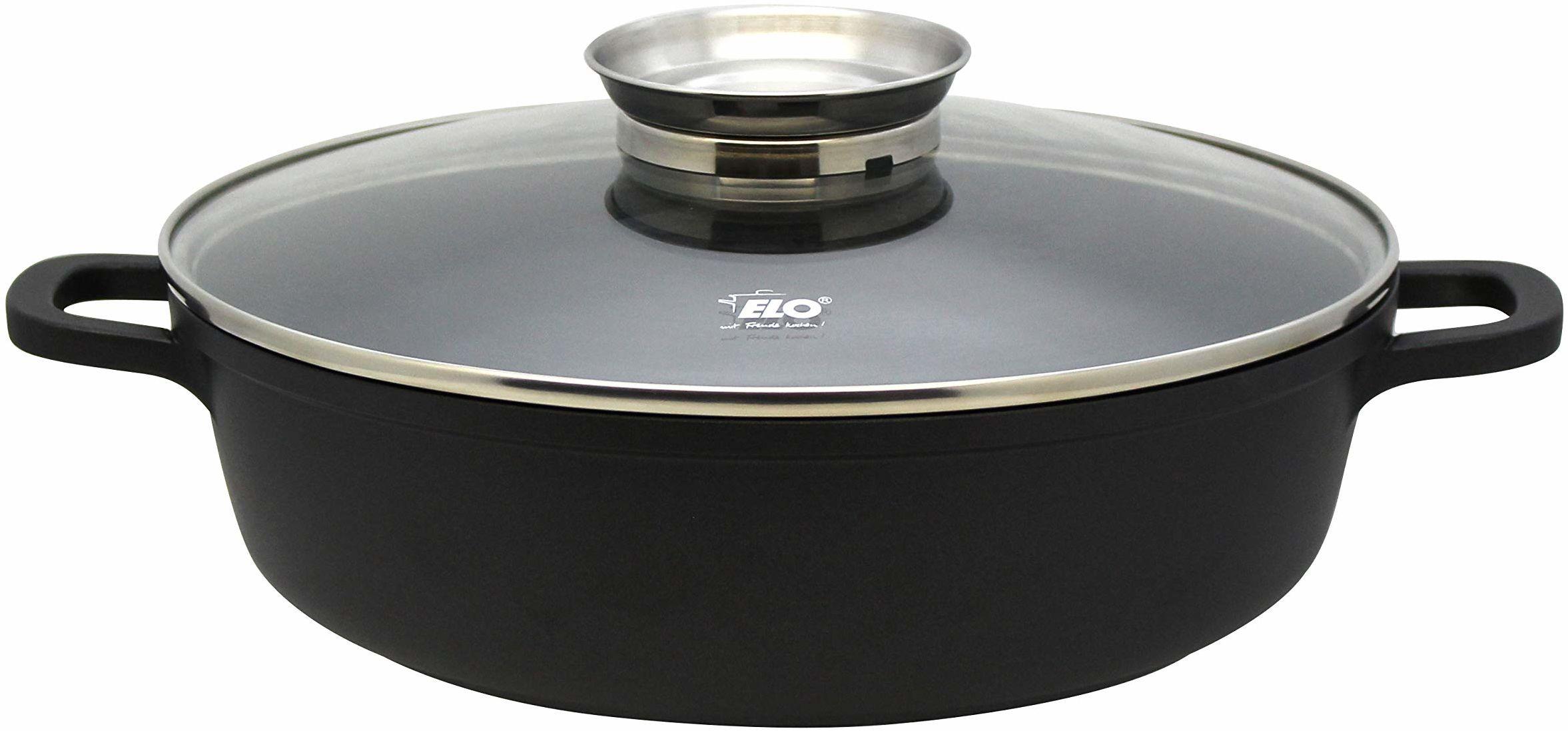 ELO 86689 Alucast patelnia do serwowania okrągła 28 cm, odlew aluminiowy