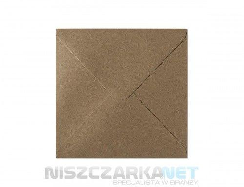 Koperta / koperty ozdobne kwadrat 160x160mm KW160 -KRAFT CIEMNOBEŻOWY opk 10szt 120g/m2