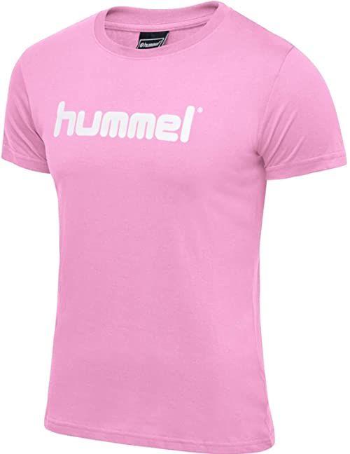 Hummel Damska koszulka Hmlgo Cotton Logo T-shirt Woman S/S Cotton Candy XS