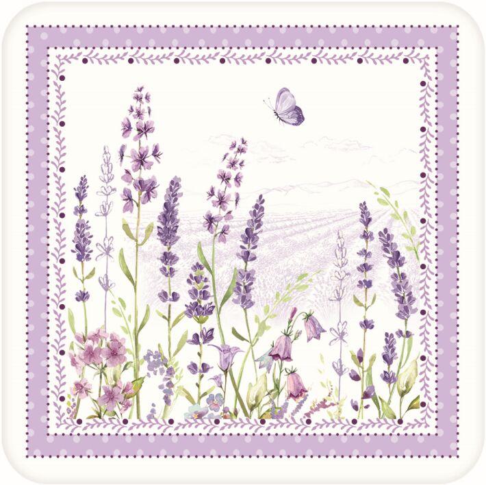 Easy Life/R2S, małe podkładki korkowe - Lavender Field, lawenda