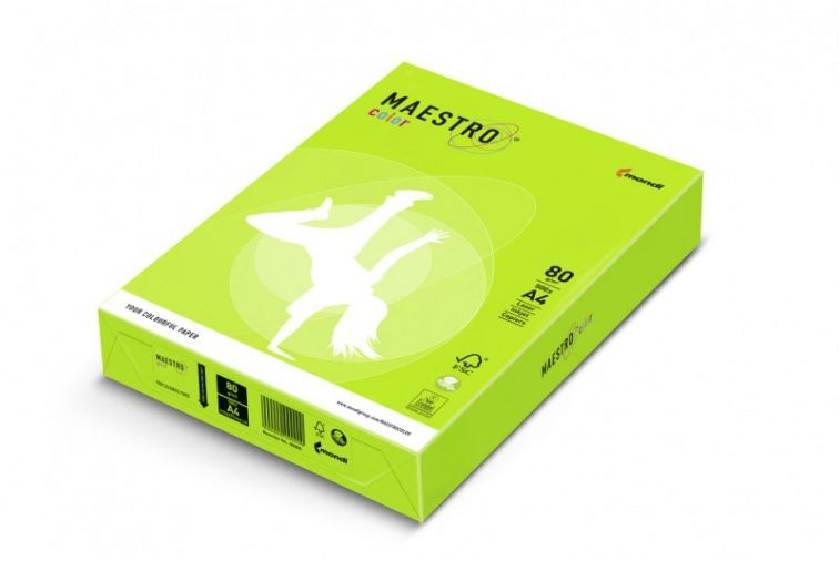 Papier Mondi MAESTRO Color Neon - NEOGN80 - neon zielony (A4/80 g/m2) - 5 ryz (NEOGN80)